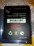 Аккумулятор новый bl5203 для т/ф fly. Фото 1.