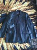 Кожаный пиджак мужской. Фото 1.