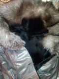Кожаная дубленка-пальто. Фото 2.