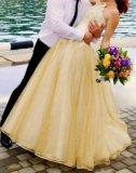 Золотое свадебное платье. Фото 2.