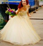 Золотое свадебное платье. Фото 3.