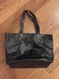 Кожаная сумка в отличном состоянии. Фото 1.