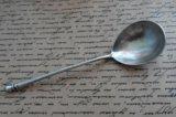 Ложка серебро десертная антиквариат. Фото 1.