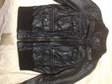 Кожаная куртка zara. Фото 1.