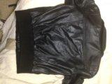 Кожаная куртка zara. Фото 3.