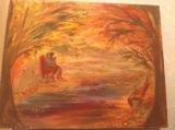 """Картина маслом """"любовь и осень"""". Фото 3."""
