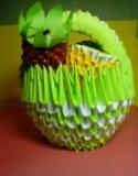 Корзинка с фруктами. Фото 1.