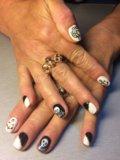 Наращивание ногтей, маникюр, покрытие гель- лаком. Фото 4.
