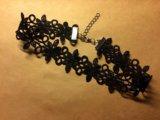 Чокер кружевной чёрный. Фото 1.