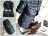 Черное пуховое пальто. Фото 2.