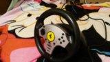 Руль и педали для видео игр. Фото 3.