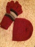Шапка и перчатки( новые ). Фото 1.