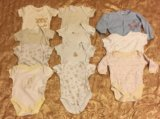 Вещи на новорожденного 0 - 3 боди. Фото 1.