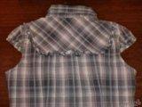 Мегамодная блузка рубашка в клетку тренд. Фото 4.