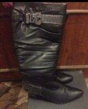 Новые кожаные сапоги. Фото 3.