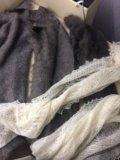 Оренбургский пуховый платок и палантин. Фото 1.