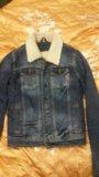 Женская джинсовка с мехом. Фото 1.