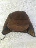 Шапка из натуральной дубленки. Фото 1.