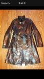 Кожаный плащ,пальто. Фото 3.