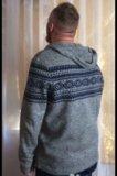 Свитер серый с капюшоном colin's. Фото 3.