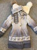 Пальто зимеее на девочку 7-9 лет.размер128-138. Фото 1.