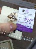 Кольцо золото 585 фианиты. Фото 4.