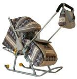 Мега крутые санки коляска. Фото 1.
