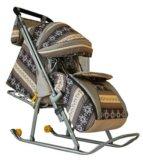 Мега крутые санки коляска. Фото 2.