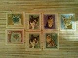 Марки болгарии кошки. Фото 1.