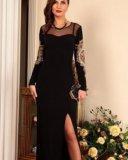 Новое вечернее платье с вышивкой, размер 48. Фото 1.
