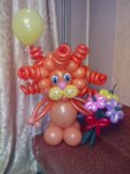 Львенок из воздушных шаров. Фото 3.