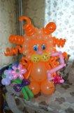 Львенок из воздушных шаров. Фото 2.