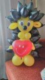 Ежик из воздушных шаров. Фото 2.