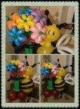 Пчелка с букетом из воздушных шариков. Фото 3.
