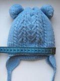 Детская зимняя шапочка с рождения. Фото 2.