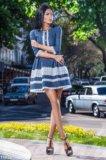 Новое джинсовое платье гепюр. Фото 1.