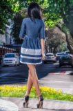 Новое джинсовое платье гепюр. Фото 3.