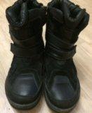 Ботинки зимние из натур. кожи и меха по стельке 23. Фото 1.