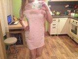 Нежное платье зефирка с жемчужинками. Фото 1.