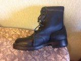 Новые кожаные  берцы, 28,5 размер. Фото 1.