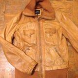 Кожаная куртка bershka. Фото 1.