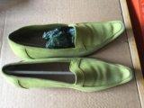 Мокасины салатовые. Фото 2.