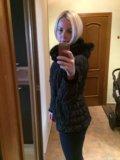 Куртка женская с норкой,сумка gf ferre в подарок. Фото 3.