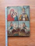 Икона 19 век казанская , николай, георгий, дмитрий. Фото 2.