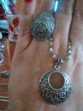 Гарнитур из серебра 925,дагестан. Фото 4.