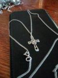 Цепочка серебро925, с крестиком. Фото 3.