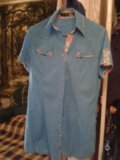 Рубашка сине-голубая. Фото 1.