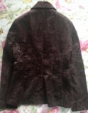 Пиджак коричневый 44р. Фото 2.