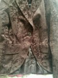 Пиджак коричневый 44р. Фото 3.