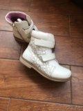 Ботинки на позднюю осень, утеплённые размер 30. Фото 2.